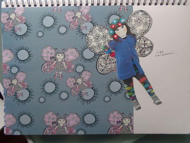 Libe y su papel pintado
