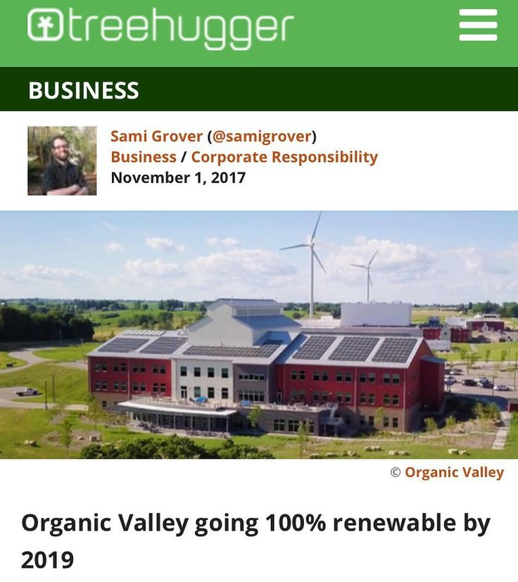 Great news! Another big company has committed to 100% renewable energy. Way to go @organicvalley. Why are so many companies investing in renewable energy and sustainable practices? Because it's good for our planet AND for business. As consumers we must vote with our wallets and urge more companies to go green. #renewables#renewableenergy#windpower#solarpower#sustainability#organic