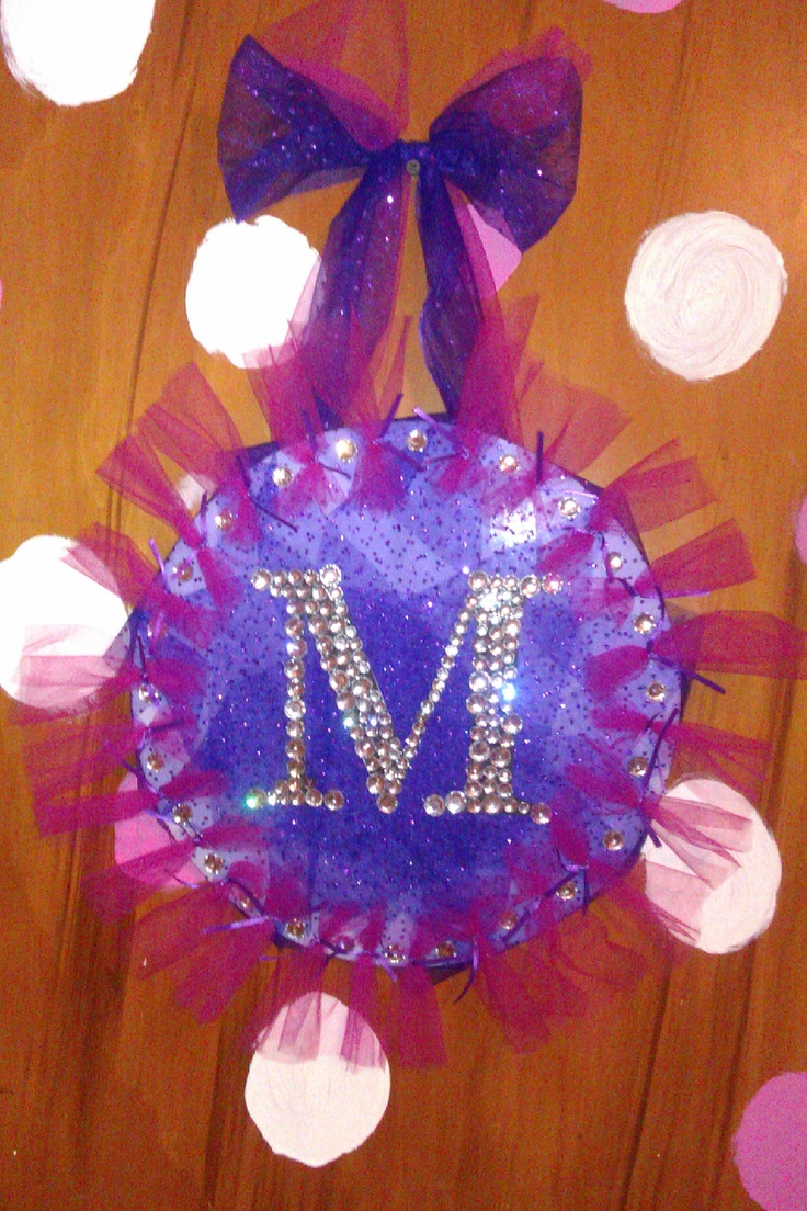 made this for my daughter's door. just used cardboard, tulle, craft diamonds and super glue. super easy and fun!