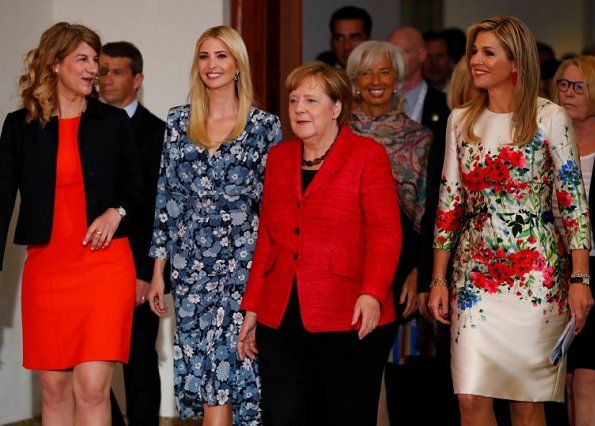 ♥•✿•QueenMaxima•✿•♥...Queen Maxima of The Netherlands attended the W20 conference on April 25, 2017 in Berlin, Germany.