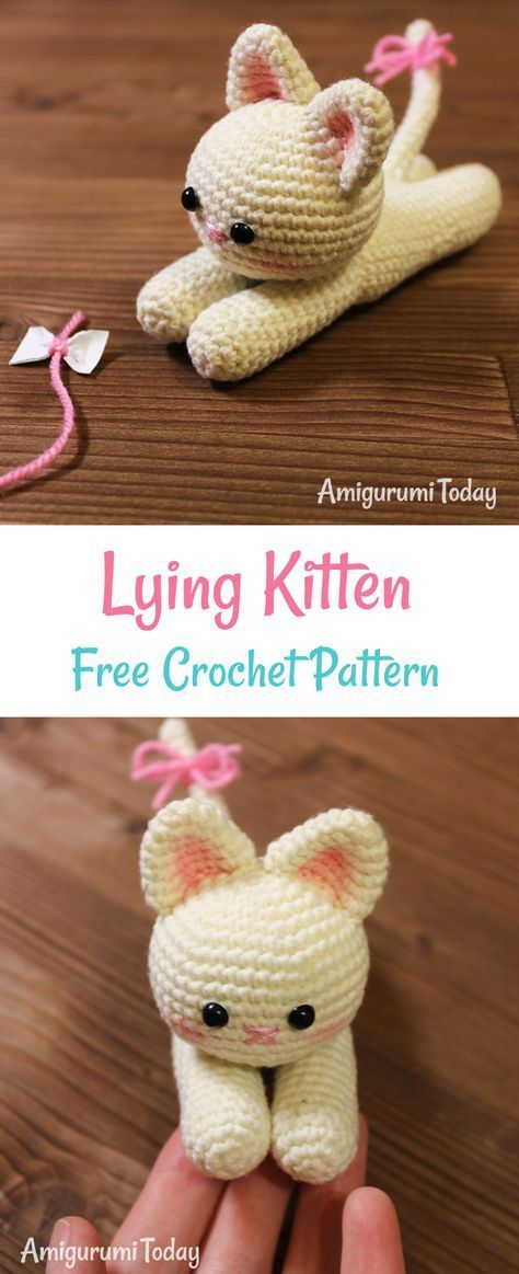 Have you ever noticed that cats have the magic ability to relax you? Crochet a sweet and gentle kitten to give a touch of appeasement to your days.