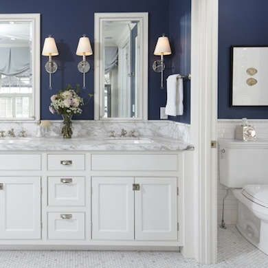 The all-white bathroom is a familiar design icon: crisp white walls, marble vanity top, gleaming porcelain, plush white towels. But after years of being considered a classic, this minimalist palette can leave many people wanting more. A dash of color can enrich the space with energy, and—depending on the shades you choose—your bathroom paint colors can help invigorate you in the morning, relax you in the evening, or simply make you smile at any time of day. Use the power of paint color in…