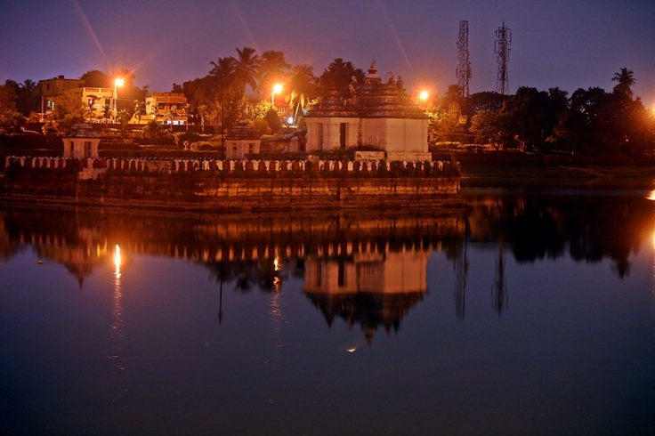 The Bindu Sagar lake near Lingaraja Temple, believed to contain drops of every holy river in India.