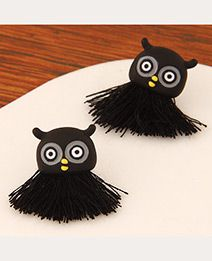 Tassel Decorated Owl Shape Design Black.  Fashionable with passion REPIN if you like it.😍 Only 35 IDR