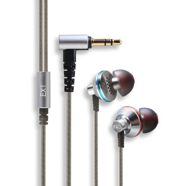 Fiio EX1 Hifi in-ear Earphones Studio Metal Stereo Music Aerospace Nanotech Titanium