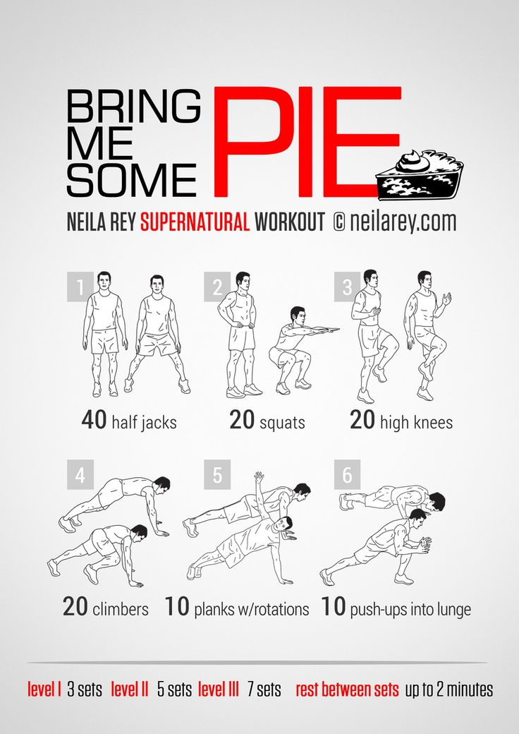 8.18.14 Bring Me Some Pie Supernatural Workout. Because doing a Supernatural workout while watching Supernatural is downright epic. Neila Ray blows my mind.