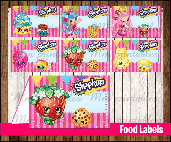 It's just an image of Juicy Free Printable Shopkins Food Labels