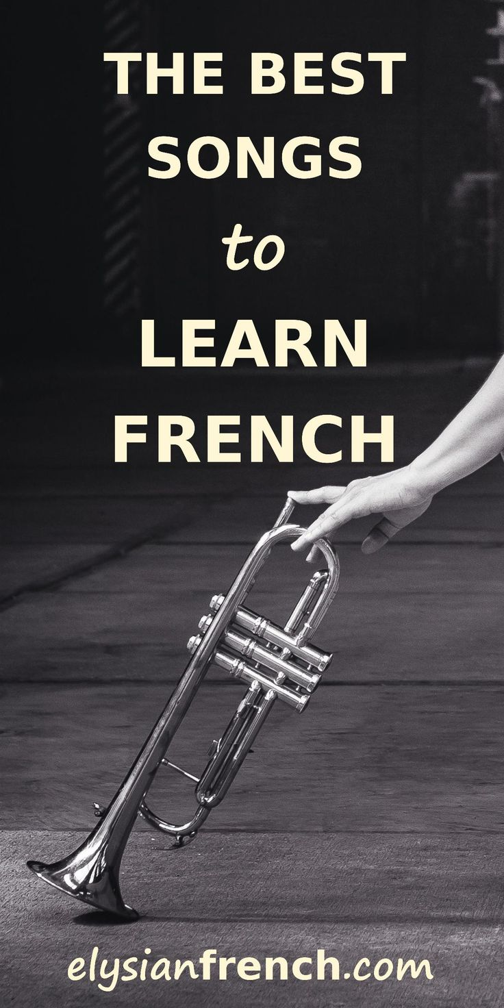 Best songs to learn French