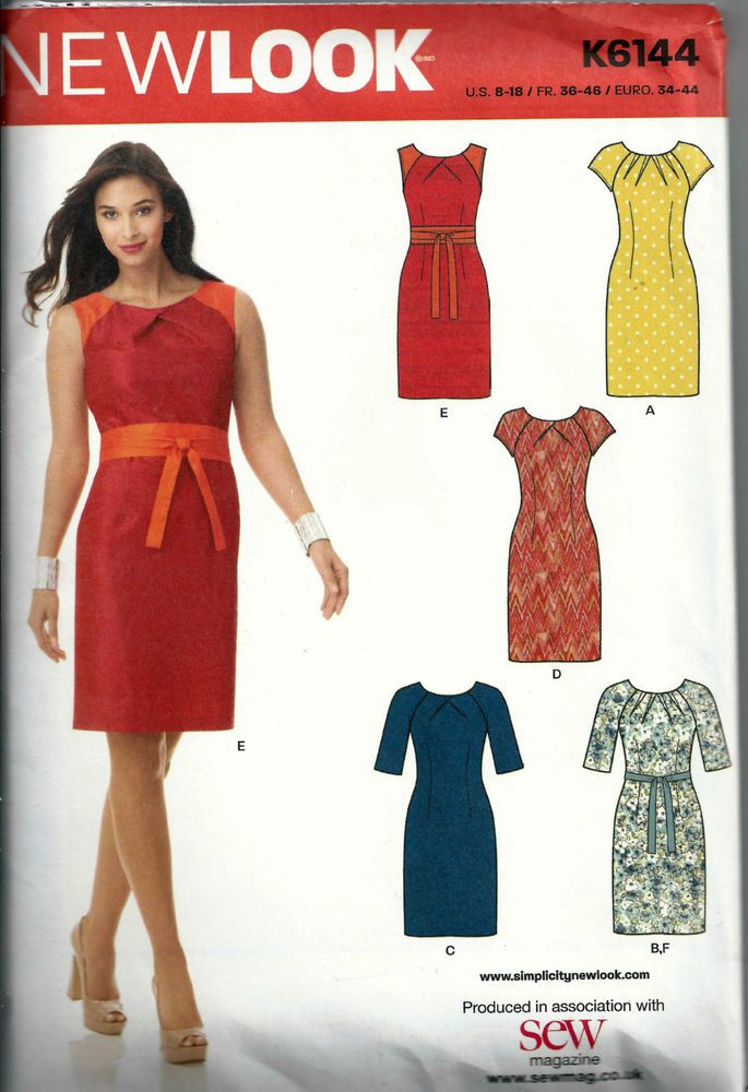 Simplicity New Look Sewing Pattern  K6144  US Size 8-18 Dresses