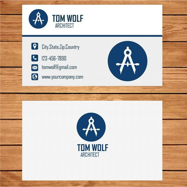 Microsoft Publisher Architect Business Card Template