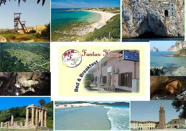 Dal b&b Fantar House si posso visitare tutti questi bellissimi ed incontaminati luoghi. Il Sulcis-iglesiente terra del sud-ovest sardo,territorio ancora naturale e selvaggio.Dove il turista potrà immergersi nei colori e profumi della macchia mediterranea