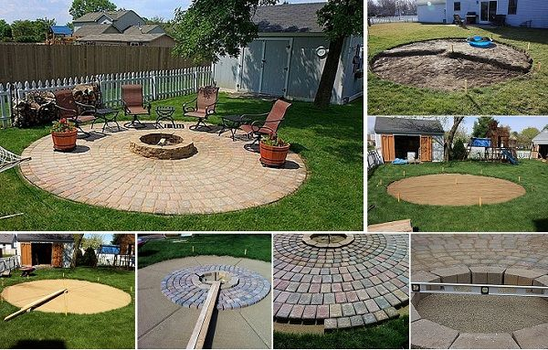 DIY Fire Pit & Patio Undertaking - http://www.ikeadecoratingideas.com/decoration-tips/diy-fire-pit-patio-undertaking.html