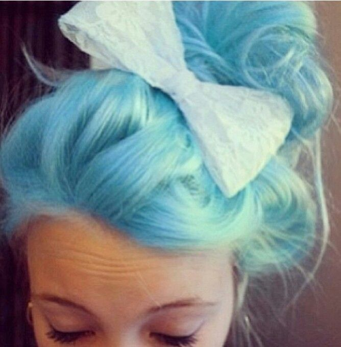 Cotton Candy Blue Hair
