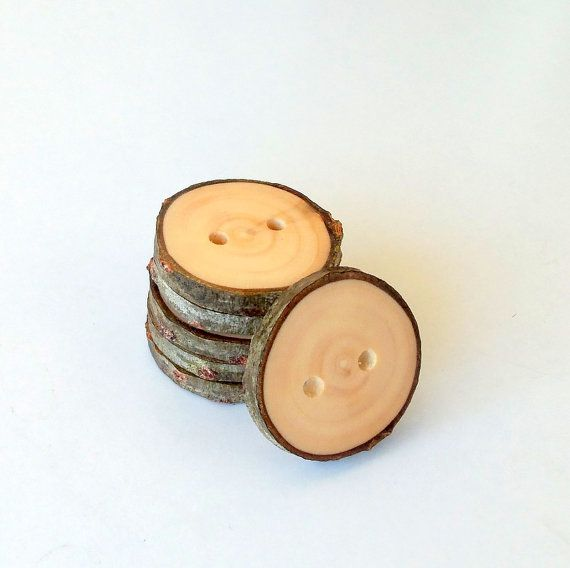 New  Wood Buttons  Branch Buttons  Slim by PebblesAndWoods on Etsy