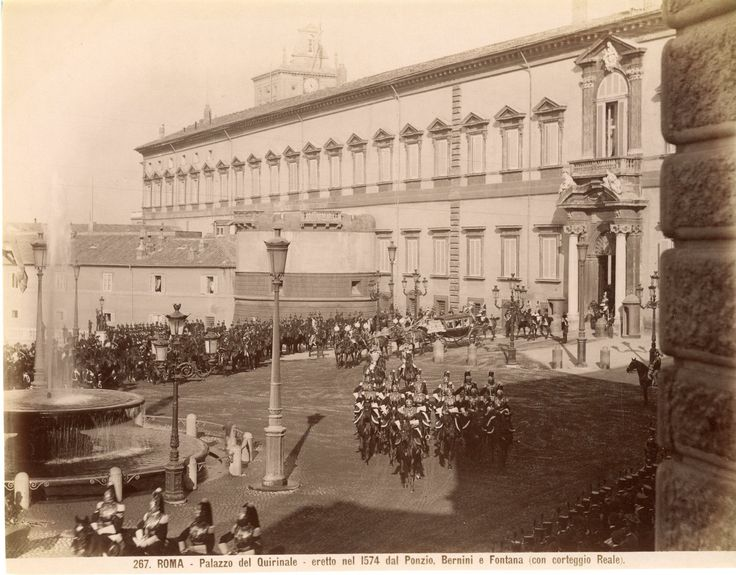 Italie, Roma, Palazzo del Quirinale Vintage albumen print Tirage albuminé 20x25 Circa 1875