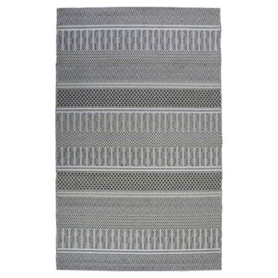 Alfombra rayas interior/exterior gris 160x230