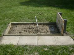 Simple Horseshoe Pit Plans | The equipment used was skill saw, 15/16 drill, drill, hammer, level ...