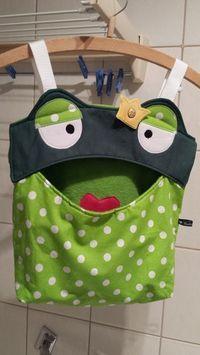 Wäscheklammernbeutel - Utensilo ♥♥♥ Klammerbeutel Frosch ♥♥♥ Hän... - ein Designerstück von Gudis-Goodies bei DaWanda