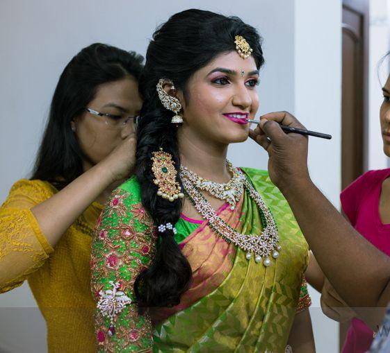 Bride in Diamond Floral Long Set