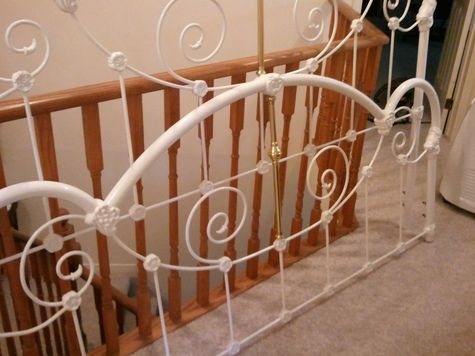 Antique Iron Beds For Sale | King size antique white iron bed frame for sale.