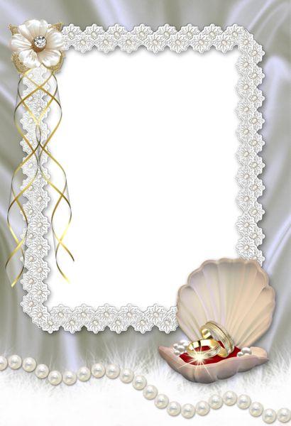 Beautiful Wedding Transparent Photo Frame