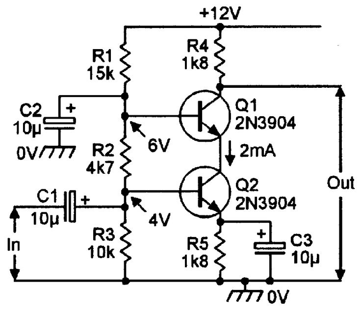 complementary common emitter circuit