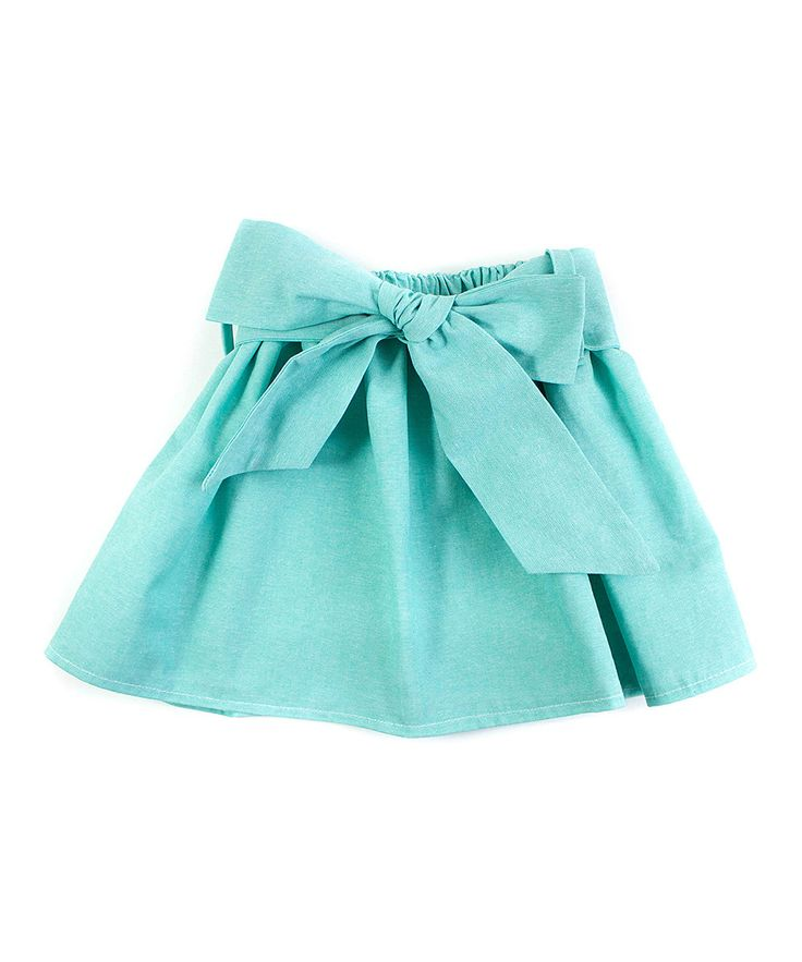 Love this Mint Sash Chambray Skirt - Infant, Toddler & Girls by Trendy Ties on #zulily! #zulilyfinds