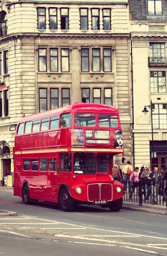 One of my favorite sights in London is the Double Decker bus! This print comes from my Etsy shop: Around in 80 Frames