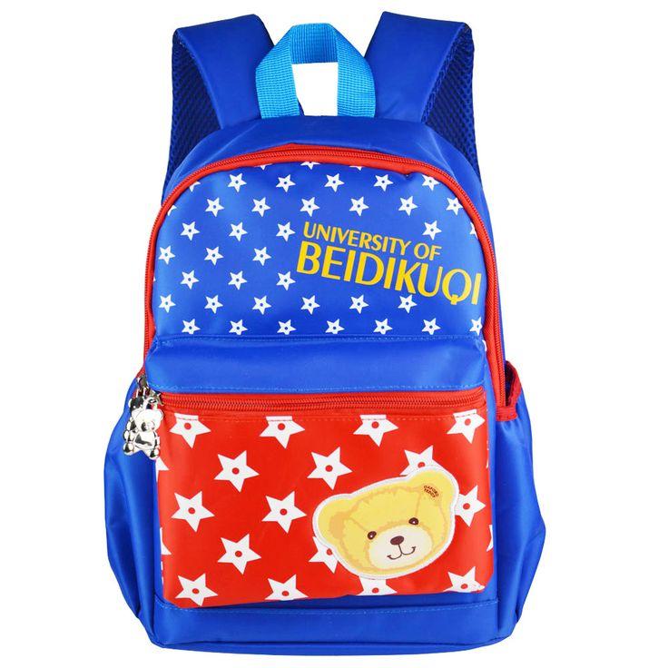 AIWEIKE Cute Kids School Bags Cartoon Bear Thin Veins Nylon Mini Toddler Book Bag  Kindergarten girls boys Backpack free ship