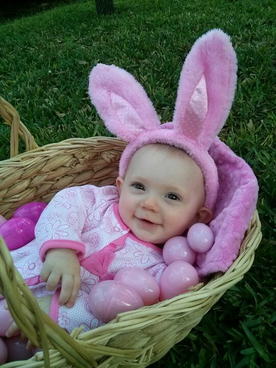 186 best baby easter baskets images on pinterest easter baskets easter bunny baby basket eggs pink girl photo ideas negle Images