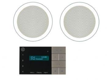 Systemline e100 bluetooth fm dab radio system 6 5 qi65cb ceiling speakers ceiling for Ceiling speakers for bathroom
