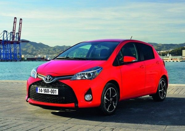 2015 Toyota Yaris Front Angular View 600x425 2015 Toyota Yaris Full Review with Images