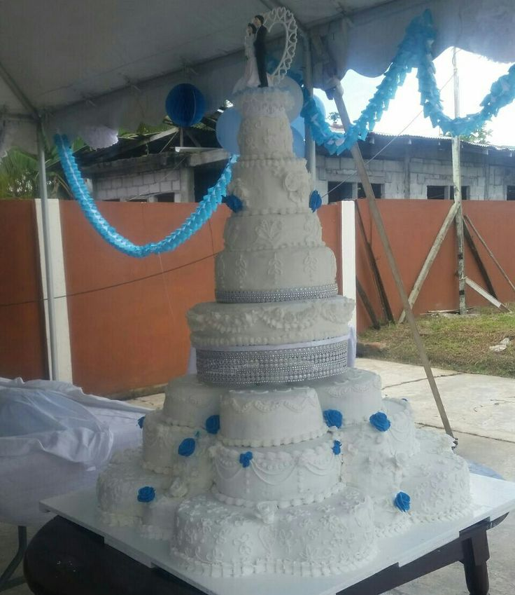8 tier wedding cake done by me @Amina's Creative Cakes & Cake Decorating