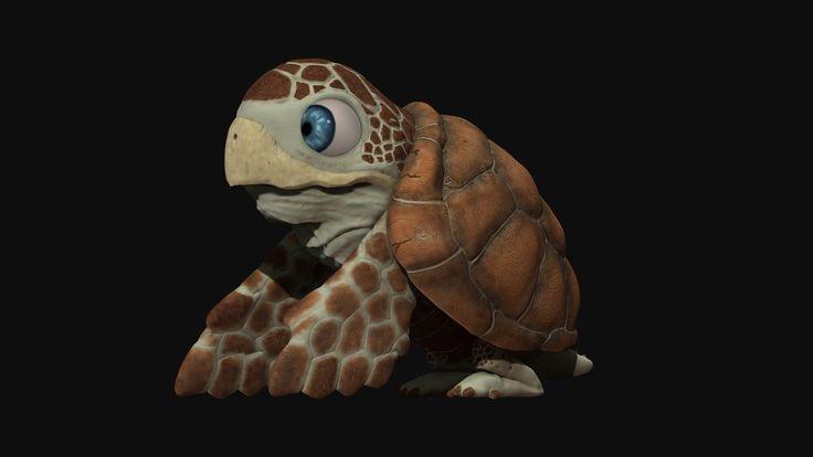 Little Turtle, David Arévalo on ArtStation at https://www.artstation.com/artwork/nNBLX