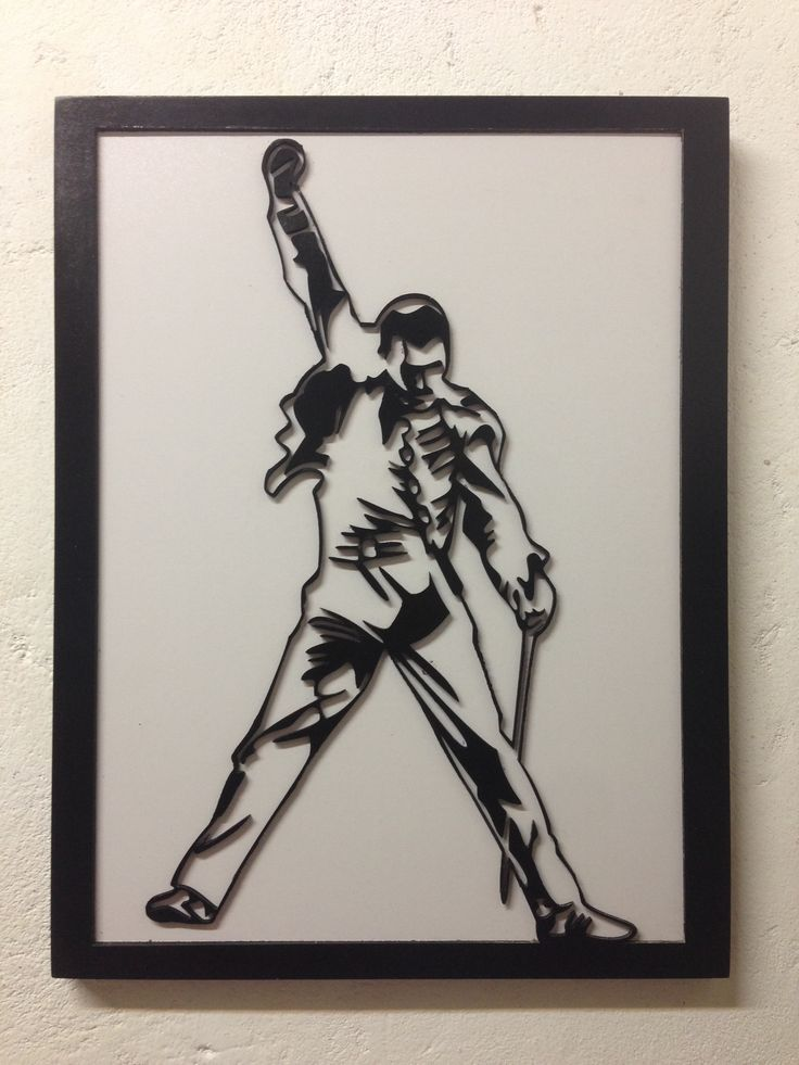 Freddie Mercury MDF, laser cut