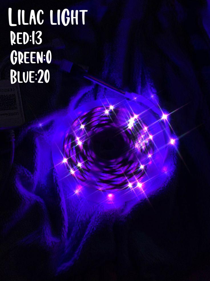 purple in 2020 Led lighting bedroom, Led room lighting