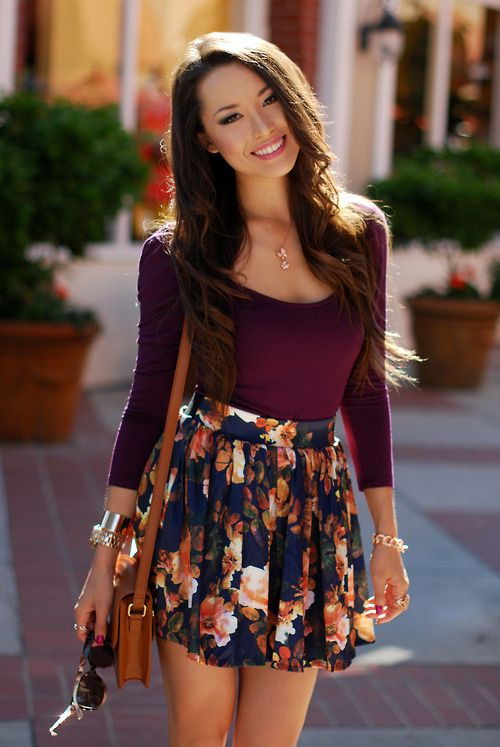 floral skirts are a favorite