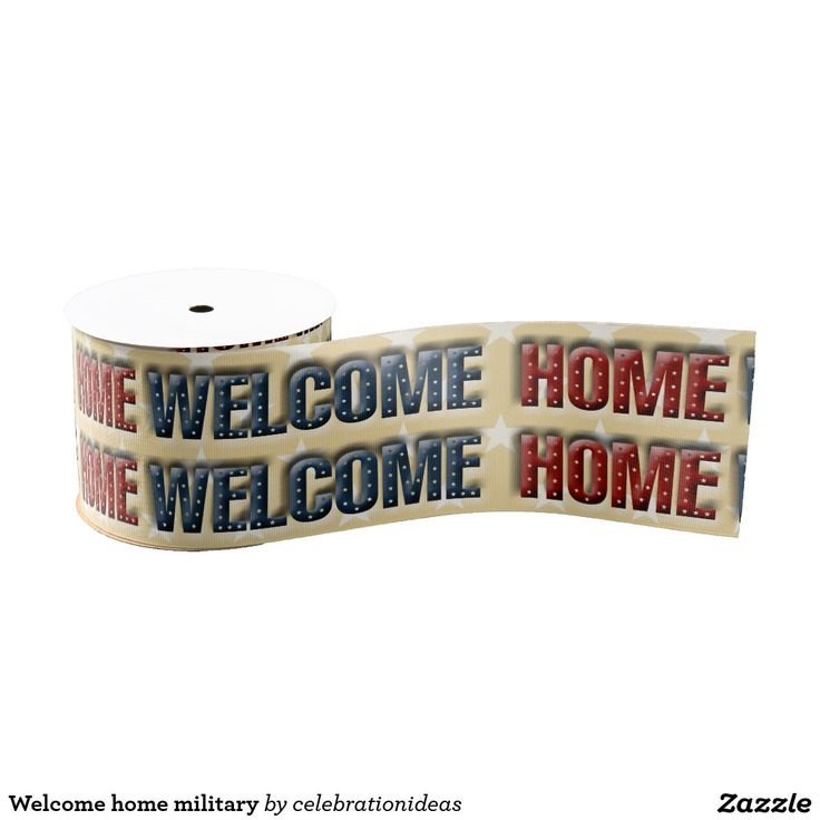 Welcome Home #military #patriotic #ribbon Available in different products too.