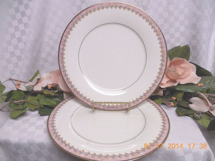 Noritake White China Dinnerware Momentum  #7734  2 Dinner Plate MRSP  $40.00 #NoritakeChinaDinnerware