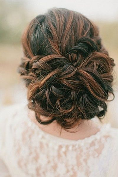 Love this idea for long hair – elegant for the day and can be taken down in the evening to reveal long waves