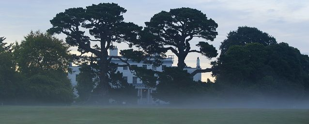 The view from the golf course back to the house with our iconic trees...  Find out more about our location: http://exetergcc.co.uk/join/environment-community