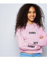 Teens Lilac Sorry Not Sorry Hoodie | New Look