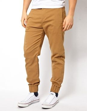 oooh!  extra wide cuff and a chino love the color!