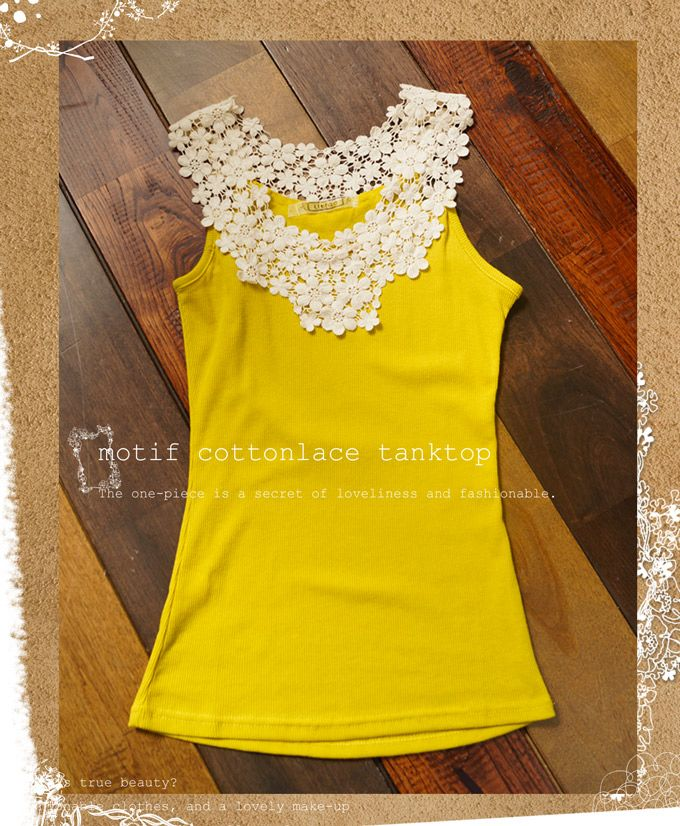 Add lace to tank