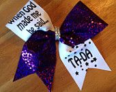YES Im Different Neon Cheetah Cheer Bow by Bellabows76 on Etsy