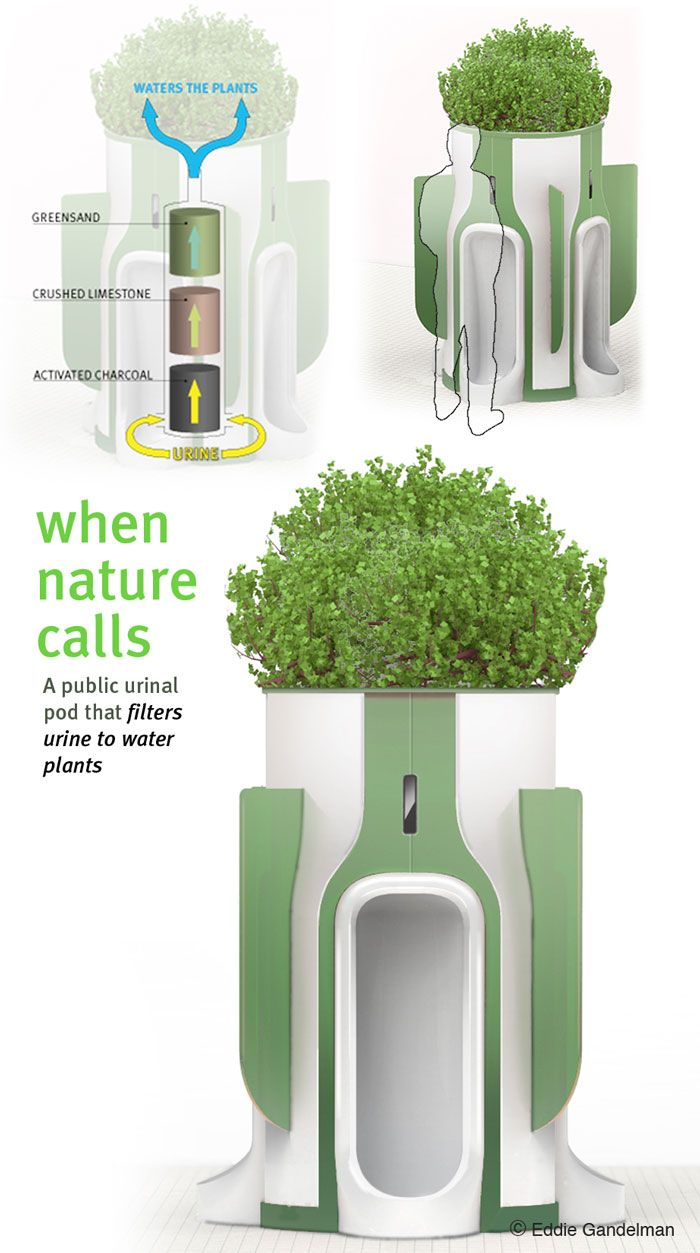 public urinal planter