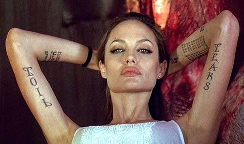 Angelina Jolie Tattoos Collection