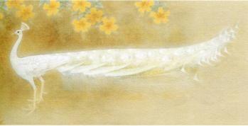 上村松篁 「白孔雀」 1973年