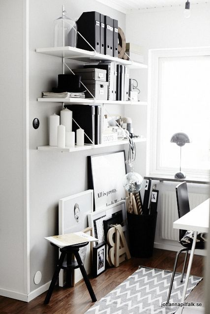 monochrome workspace | Styling Johanna Pilfalk, photo Sara Landstedt