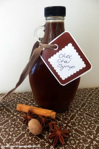 Homemade Chocolate Chai Syrup - Natural New Age Mum